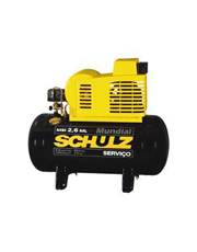 Compressor de Ar 2,6 pés 50 Lts MSI 2,6 ML/50 - Schulz