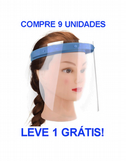 Kit 10 Máscaras Face Shield de Proteção Facial Individual