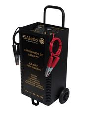 Carregador de Bateria 12/24V Manual 50A com Auxiliar de Partida 110/220V - Alleco