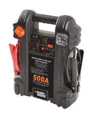 Auxiliar de Partida Veicular Portátil com Luz de Emergência 12V 500A - Black & Decker