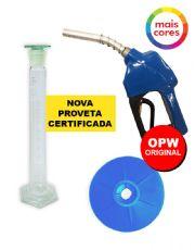 Combo Proveta de 100 ml Com Certificado RBC 4 Pontos + Bico Automático 11A OPW + Protetor de Respingos OPW