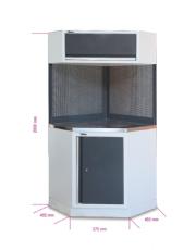 Armário de Canto Suspenso Completo Bancada Aço Inox para Oficina C45 - Beta
