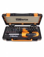 Jogo de Catraca Reversível para Bits e Acessórios em Estojo de Plástico 860/C38P - Beta