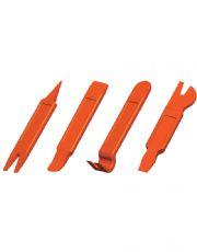 Kit com 4 Espátulas Plásticas para Desmontagem de Acabamentos Internos - Raven