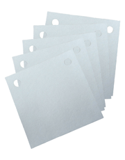 Papel Filtrante Quadrado 2 Furos 7x7 - Caixa com 10kg - Metalsinter