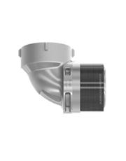 Terminal Eletrosoldável Fêmea Cotovelo 90° 2´´ 63mm - Zeppini