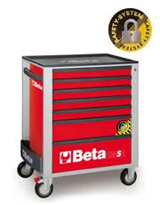 Carro Para Ferramentas Vermelho com Sistema ANTI-TILT - C24SA/7 - Beta