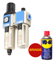 Filtro Regulador Lubrificador 1/2´´ GFC-300-15F3-WG - Puma + WD-40
