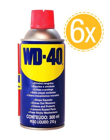 Combo com 6 Unidades do Lubrificante Spray Multiuso 300ml - WD-40