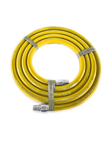 Mangueira Amarela para Combustível 3/4 5M - Terminais em Alumínio - Lubmix