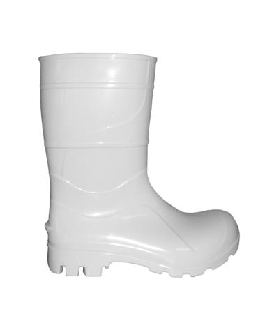 Bota Branca em PVC com Cano Médio - Kala