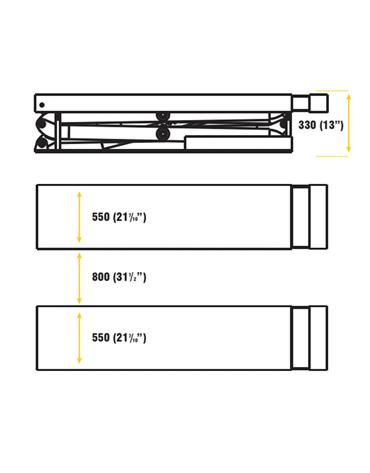 Elevador Pantográfico Tesoura Embutido com 1 Extensor de Entrada 3 Toneladas 3HP MAH-2001 - Mahovi