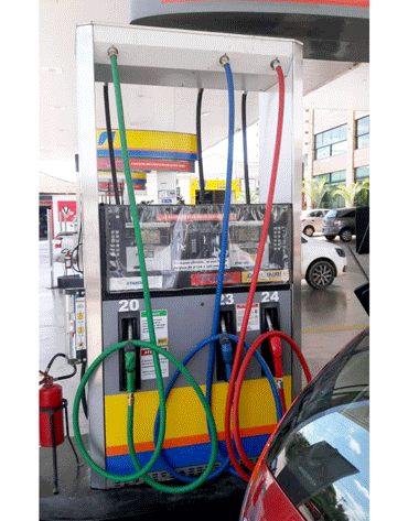 Mangueira Vermelha para Gasolina 3/4 5M - Terminais em Latão - Lubmix