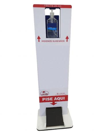 Totem Para Álcool Gel de 500ml com Pedal