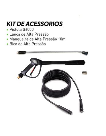 Lavadora de Alta Pressão Água Fria 1600 psi 220V Mono - IPC Brasil