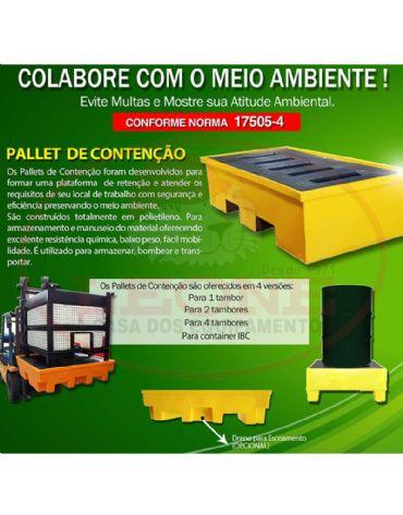 Pallet para Contenção 1000 litros  - Para IBC