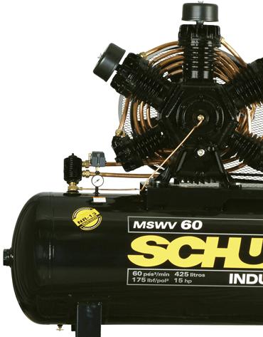 Compressor de Ar Trifásico - 175 psi - 60 pcm - 15 cv - 425 litros - MSW 60 FORT/MTA