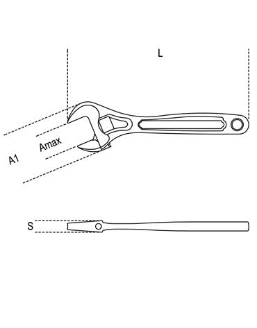 Chave Ajustável Fosfatada 8´´ com Escala 111N 200 - Beta