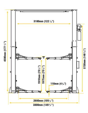 Elevador Automotivo Eletro Hidráulico Trave 6 Toneladas Vâo Livre 3HP MAH-1006 - Mahovi