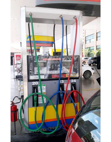Mangueira Azul para Gasolina ou Diesel 3/4 5M - Terminais em Latão - Lubmix