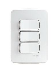 Conjunto 2 Interruptores Simples   1 Interruptor Paralelo 10a 250v - S3b62190 - Schneider - Miluz