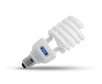 Lâmpada Eletrônica Espiral 45w X 220v Luz Branca E27 Flc