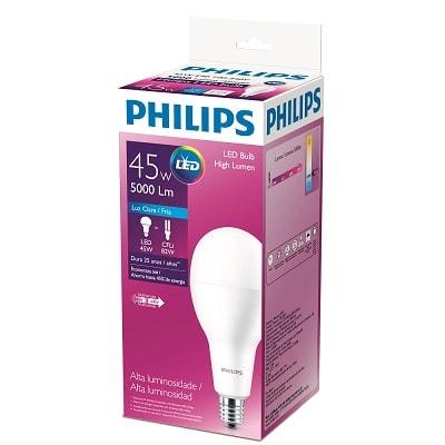 Lâmpada Led High Lumen Alta Potência 45w Bivolt Luz Branca - Philips