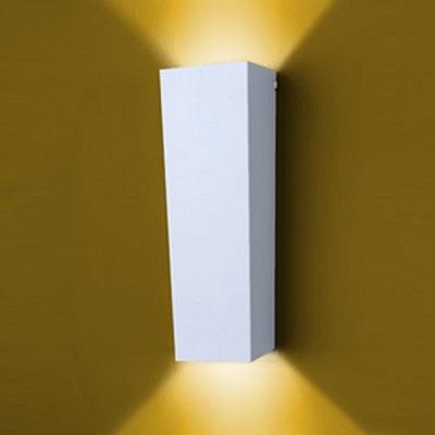 Arandela de Alumínio Para 2 Lâmpadas Par 20 50w E27 Branca 925 Br Ideal Lustres