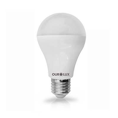 Lâmpada Led Bulbo 12w Bivolt 2700k 1200 Lúmens Certificada - Ourolux