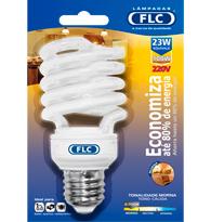 Lâmpada Eletrônica Espiral 23w X 220v Branca Quente (luz Amarela) E27 01070223 Flc