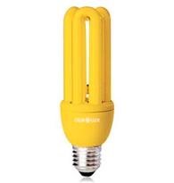 Lâmpada Eletrônica Anti- Inseto Compacta 3u 20w 127v Amarela E27  01298  Ourolux