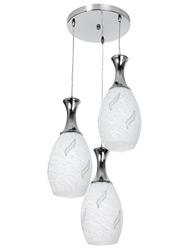 Pendente Com Canopla Redonda Para 3 Lâmpadas E27 de Até 25w - Vitta -  21823 - Kin Light