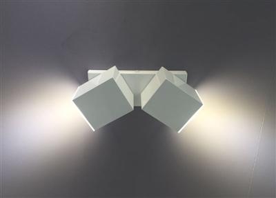 Arandela Alumínio Articulada Para 2 Lâmpadas Gu10 A-92 Br Ideal Lustres