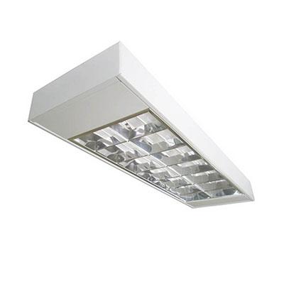 Luminária de Sobrepor 2x14 Com Refletor Para Lâmpada T5 - Indelpa