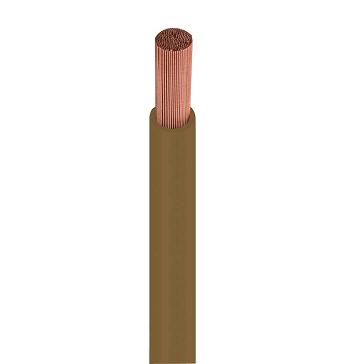 Fio Cabo Flexível 4mm 750v Marrom Rolo Com 100 Metros 115061240 Cobrecom