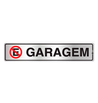 Placa de Aviso Garagem 5x25cm - C05070 - Indika