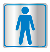 Placa de Aviso Sanitário Masculino Ii 16x16cm - C16001 16x16 - Indika