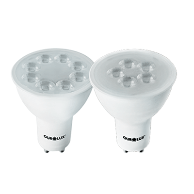 Lâmpada Led Dicroica 3w Bivolt Luz Branca Amarelada Gu10 - Ourolux