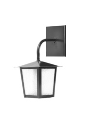 Lanterna L-2-b Preto Quadrado 29cm X 14cm - L-2-b Pt - Lustres Ideal