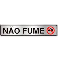 Placa de Aviso Não Fume 5x25cm - C05075 - Indika