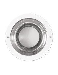 Luminaria de Embutir Quadrada Branca Para 1 Lampada de 15w E-27 Com Vidro Jateado - 447-q B13 - Spot Jaguara