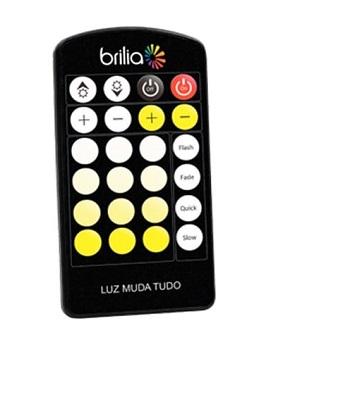 Controle Remoto Slim Multitemperatura de Cor P/fitas Led 430637 Brilia