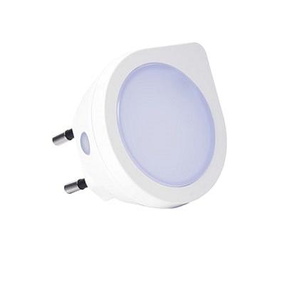 Luz Noturna Led Redonda 0,4w Bivolt 6000k Luz Branca Fria Com Sensor de Presença 431412 Brilia
