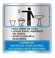 Placa de Procedimento Sanitário Masculino 16x16cm - C16005 16x16 - Indika