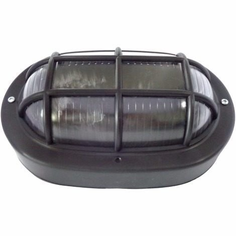 Luminária Tartaruga Oval Preta  60w 250v 1611 Ilumi