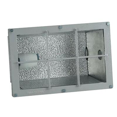 Luminária de Embutir Em Alumínio Fundido 200w Com Grade