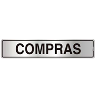 Placa de Aviso Compras 5x25 - C05021 - Indika