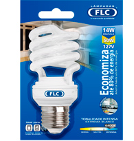 Lâmpada Eletrônica Espiral 14w X 127v Branca Fria (luz Branca) E27 01042116 Flc