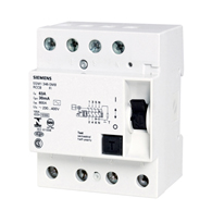 Disjuntor Dr 125a 4 Polos 30ma - 5sm33450 - Siemens