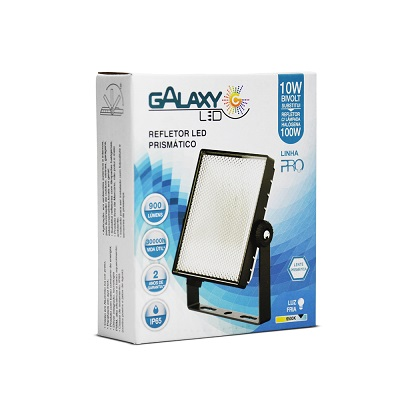 Refletor Led de Alta Potência Prismático 10w 900 Lumens 6500k – Galaxy